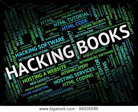 Hacking Books Represents Hackers Virus And Fiction