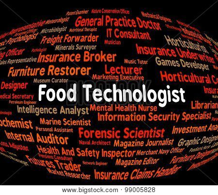 Food Technologist Indicates Eating Job And Foods