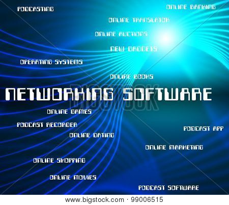 Networking Software Represents Shareware Online And Internet