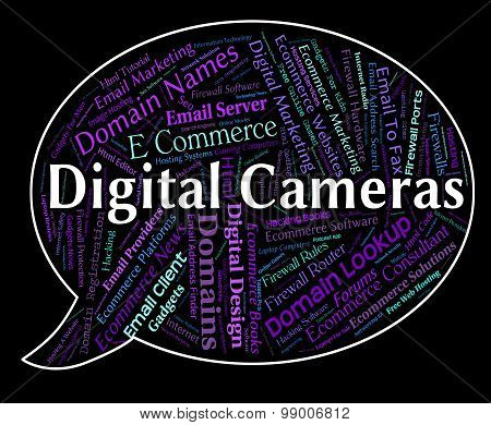 Digital Cameras Shows High Tec And Picture
