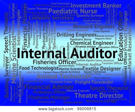Internal Auditor Shows Occupations Hiring And Job
