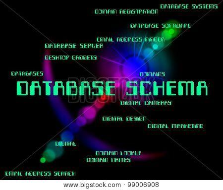 Database Schema Shows Schematics Databases And Word