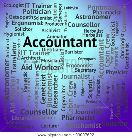 Accountant Job Indicates Balancing The Books And Accountants