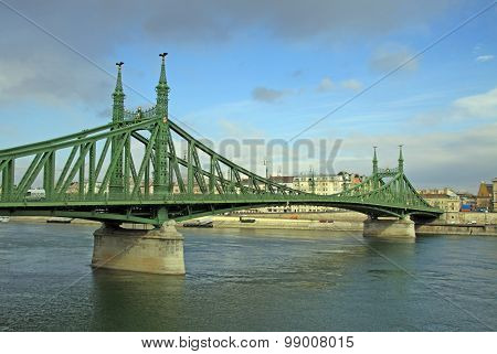 Szabadsag Hid (liberty Bridge Or Freedom Bridge) In Budapest, Hungary