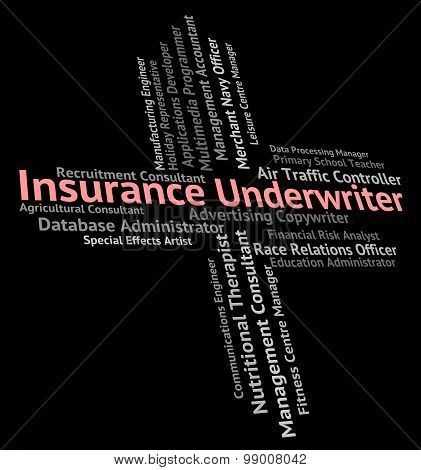 Insurance Underwriter Means Employment Policy And Jobs