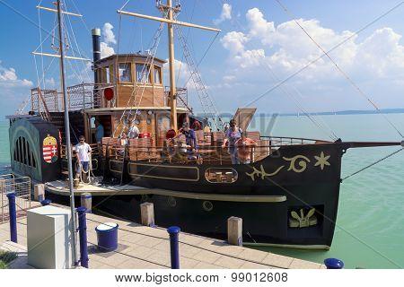 Old Steamship In Balaton