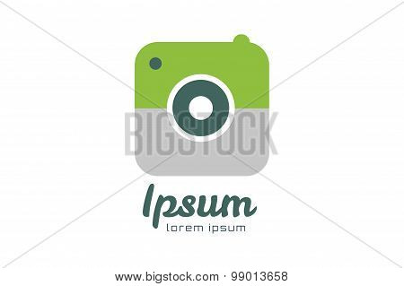 Photo camera logo icon template. Photographer logo, photo image logo.