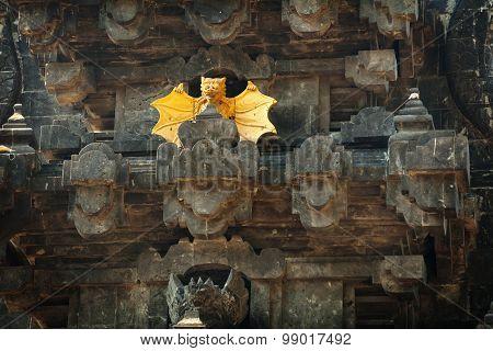 Intricate Facade Of Goa Lawah Bat Cave Temple In Bali, Indonesia