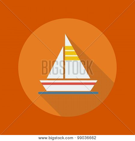 Travel Flat Icon. Sail Boat