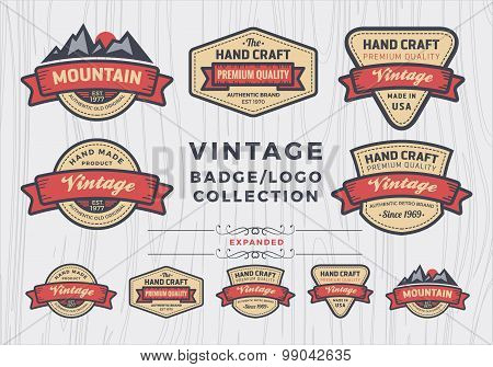 Set of vintage badge/logo design