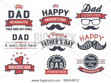 Happy Father's Day Badge Logo Vector Element