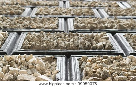 Rough Stone In Sections As A Building Exterior