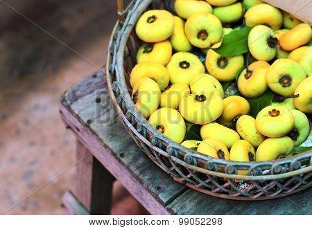 Diospyros Decandra Lour. Thai Fruit Inbasket