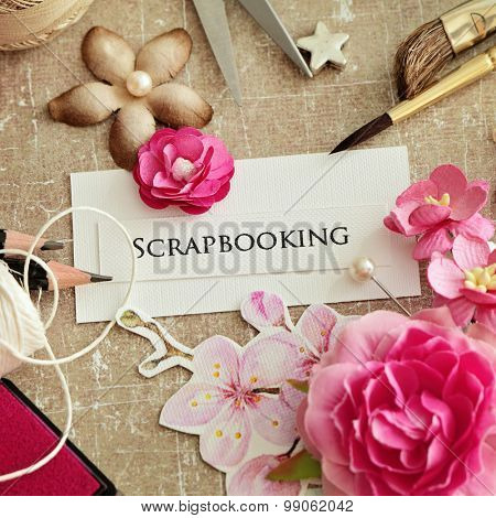 scrap booking - making of greeting card
