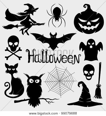 Halloween signs.
