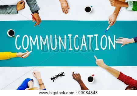 Communication Speaking Discussion Talking Ideas Speech People Language Concept poster