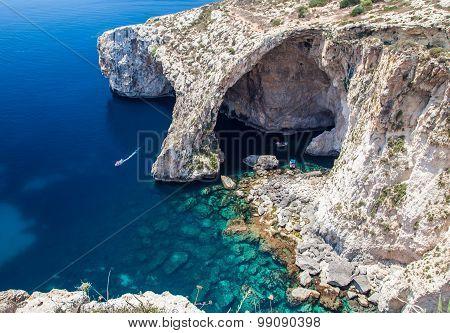 Blue Grotto In Malta