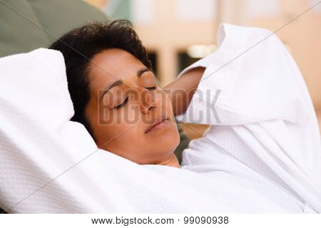 Indian Woman Relaxing