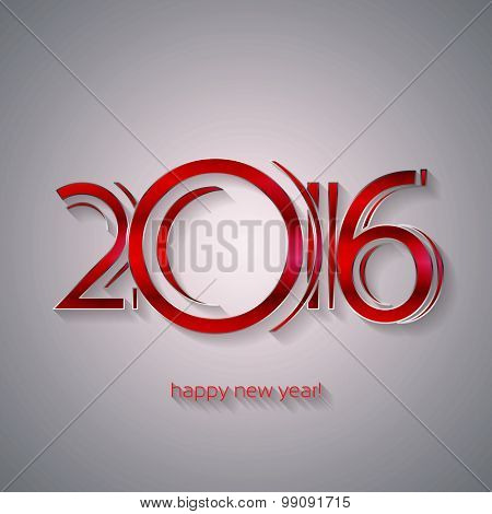 Happy New Year 2016 Greeting Card | EPS10 Vector Design