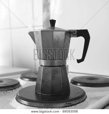 Coffee Maker On Stove