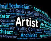 Artist Job Representing Employee Artistic And Hiring poster