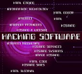 Hacking Software Showing Security Threat And Programming poster