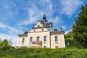 Villa Toscana in Gmunden Upper Austria, blue sky poster