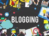 Blogging Blog Internet Media Networking Social Concept poster