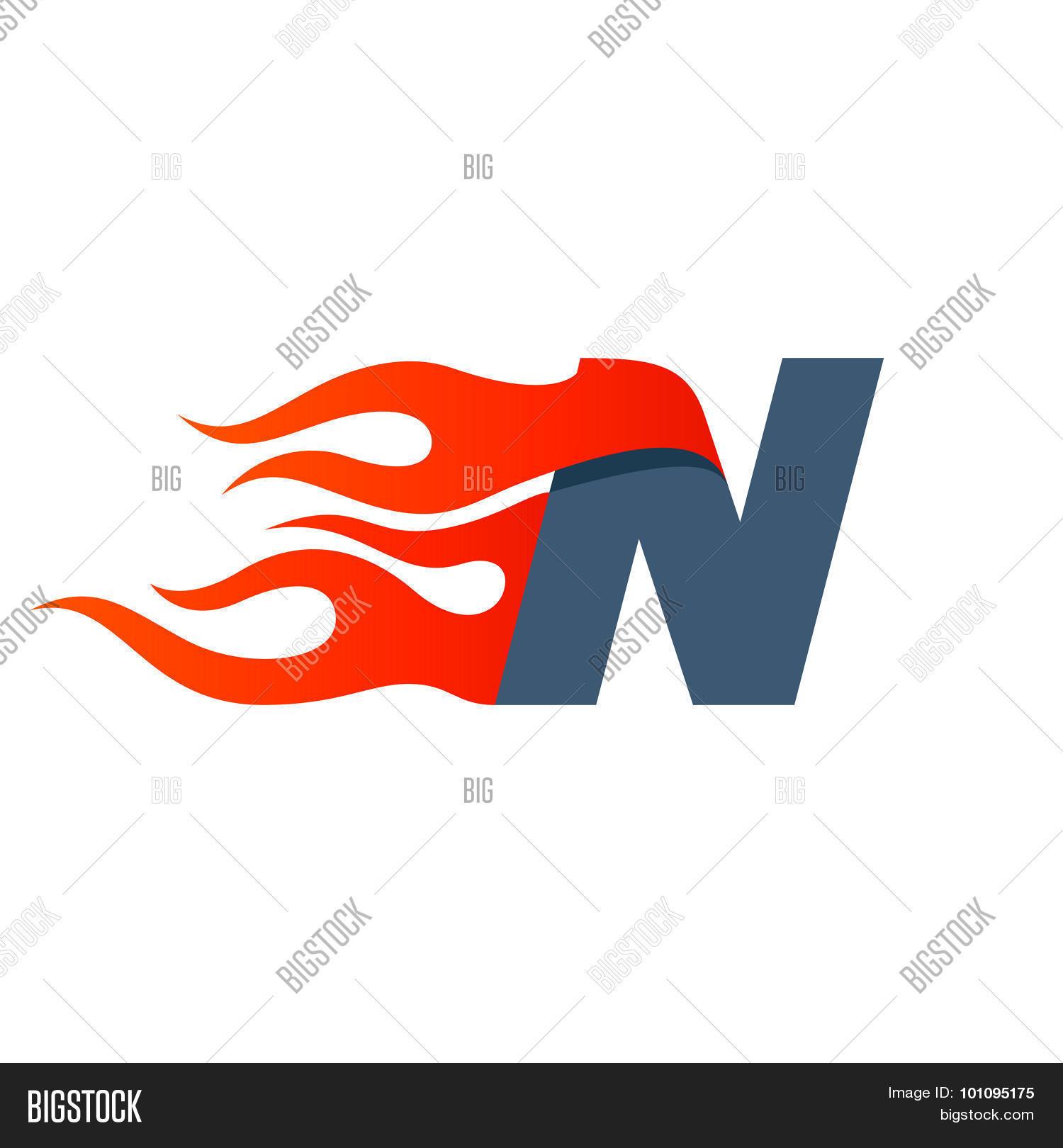 N letter logo design vector photo free trial bigstock n letter logo design template maxwellsz