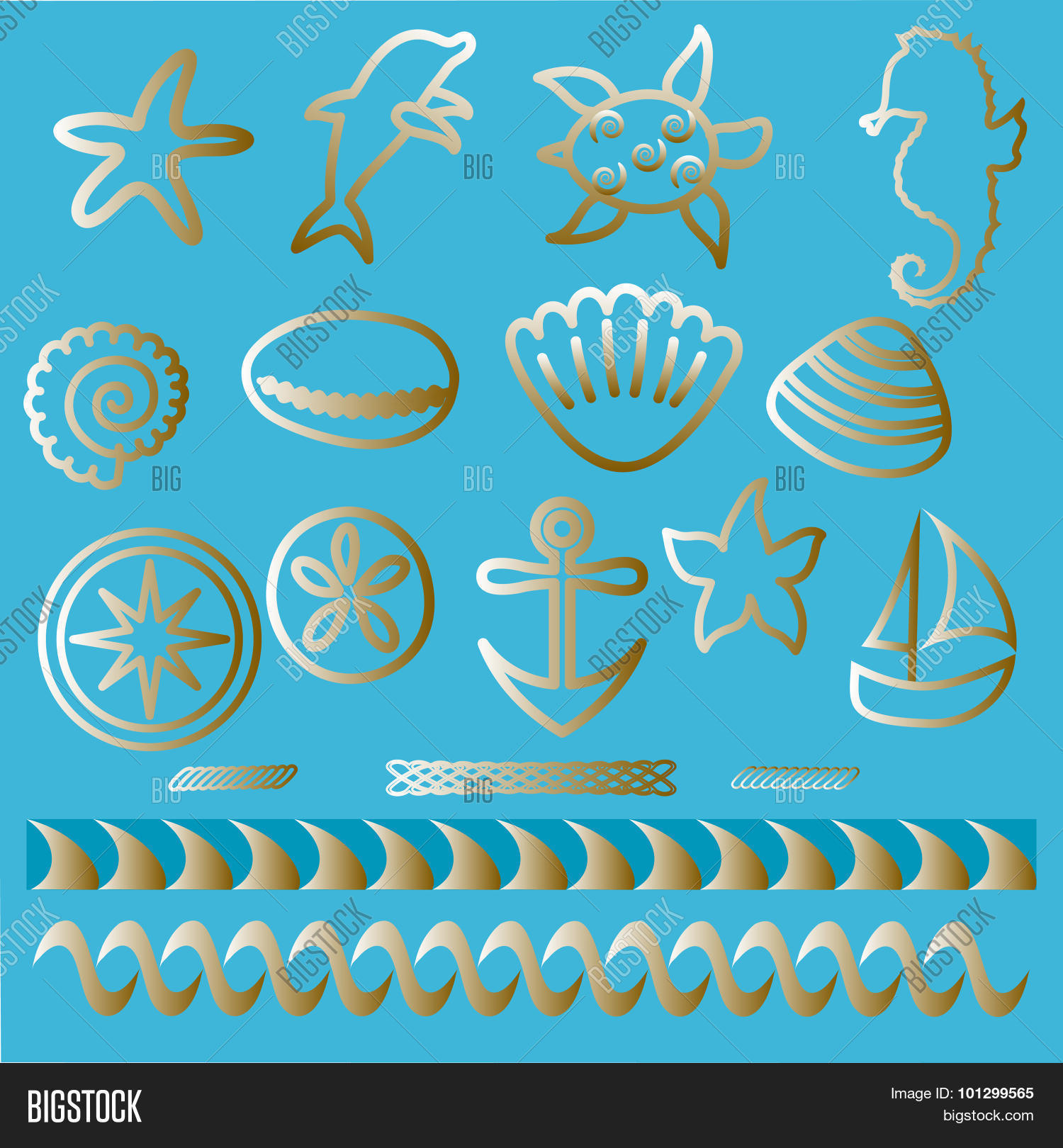 Hand Drawn Sea Vector Photo Free Trial Bigstock