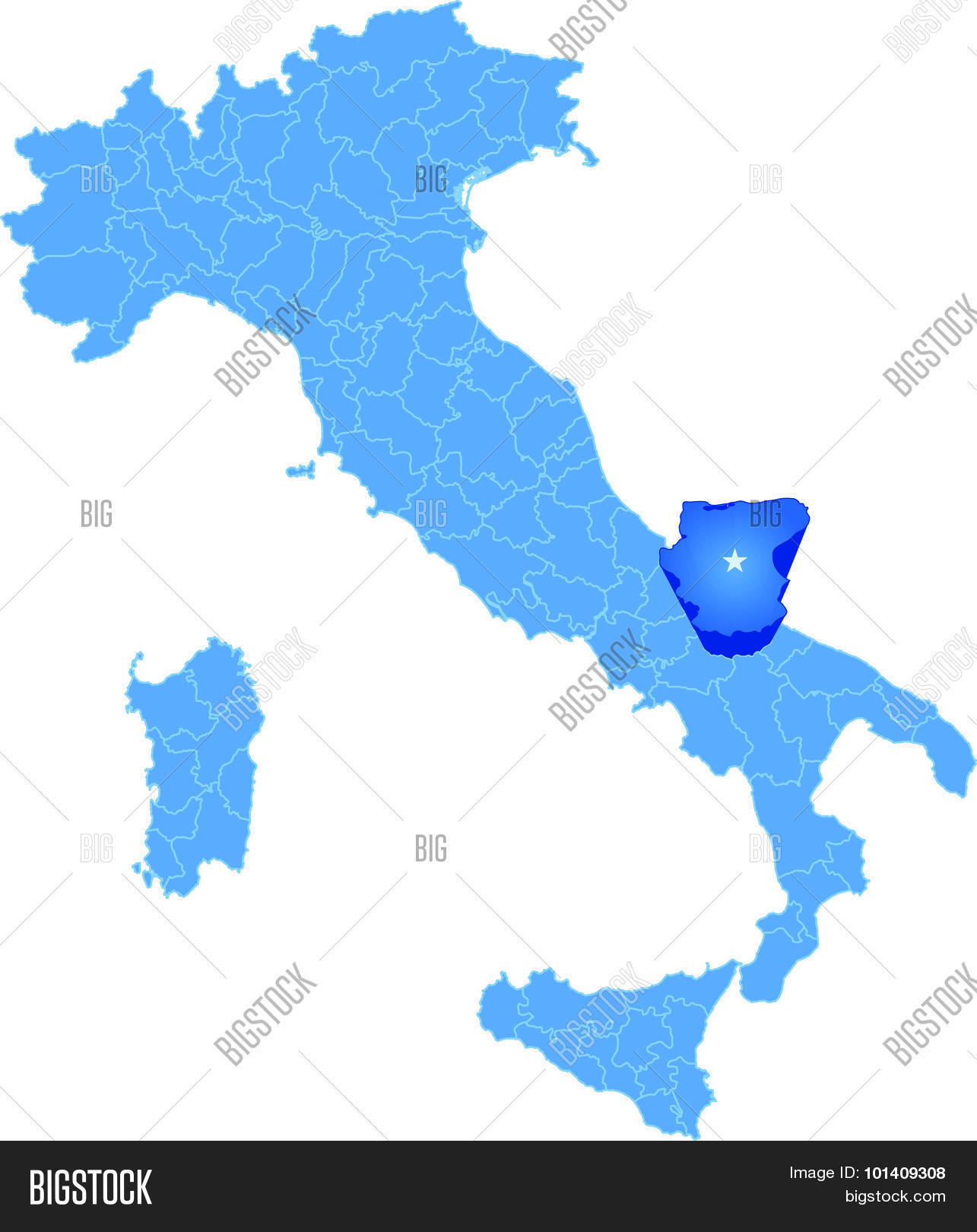 Map Italy Foggia Vector Photo Bigstock