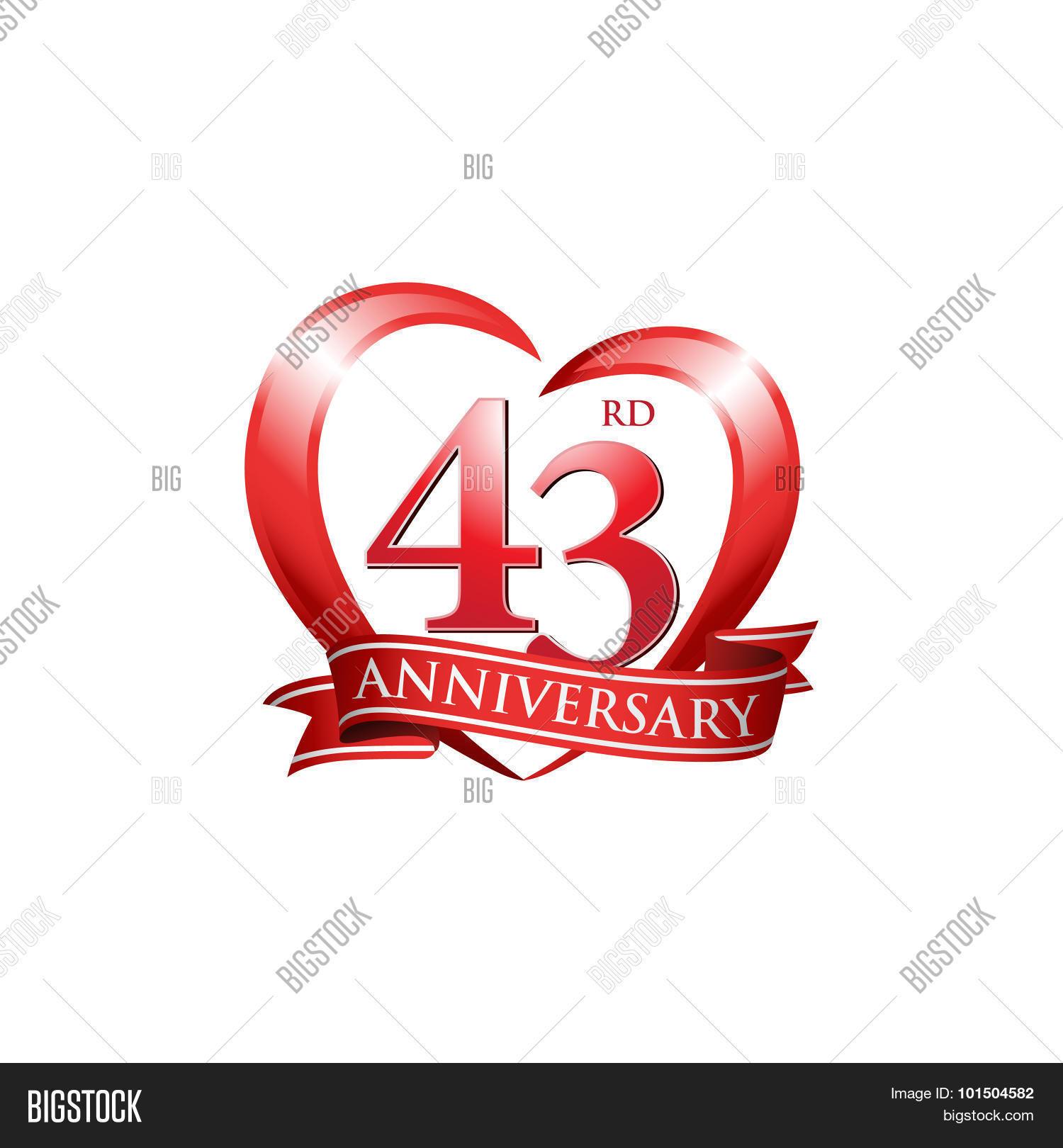 43rd Anniversary Logo Vector Photo Free Trial Bigstock