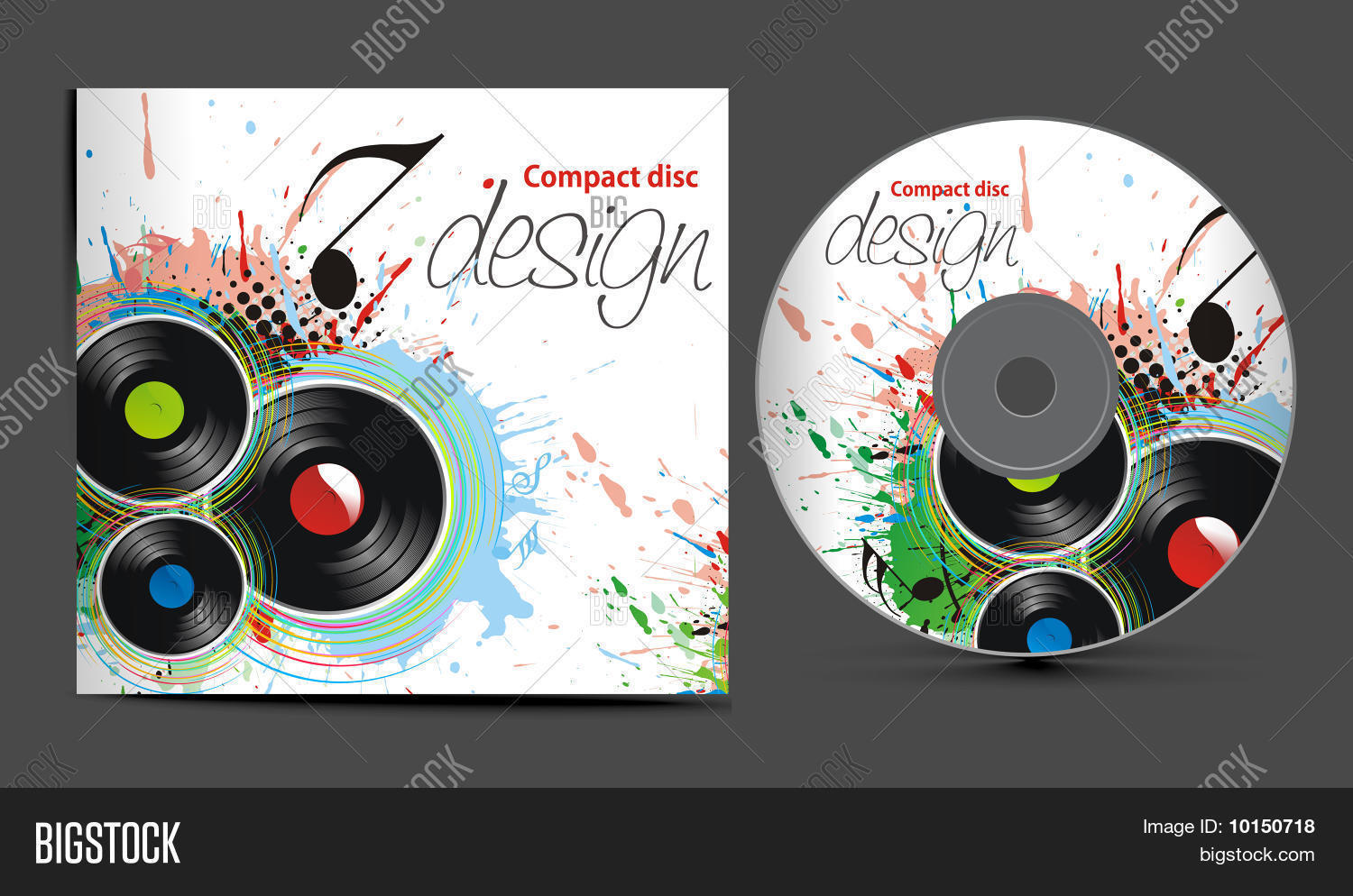 vector cd cover design template vector photo bigstock. Black Bedroom Furniture Sets. Home Design Ideas