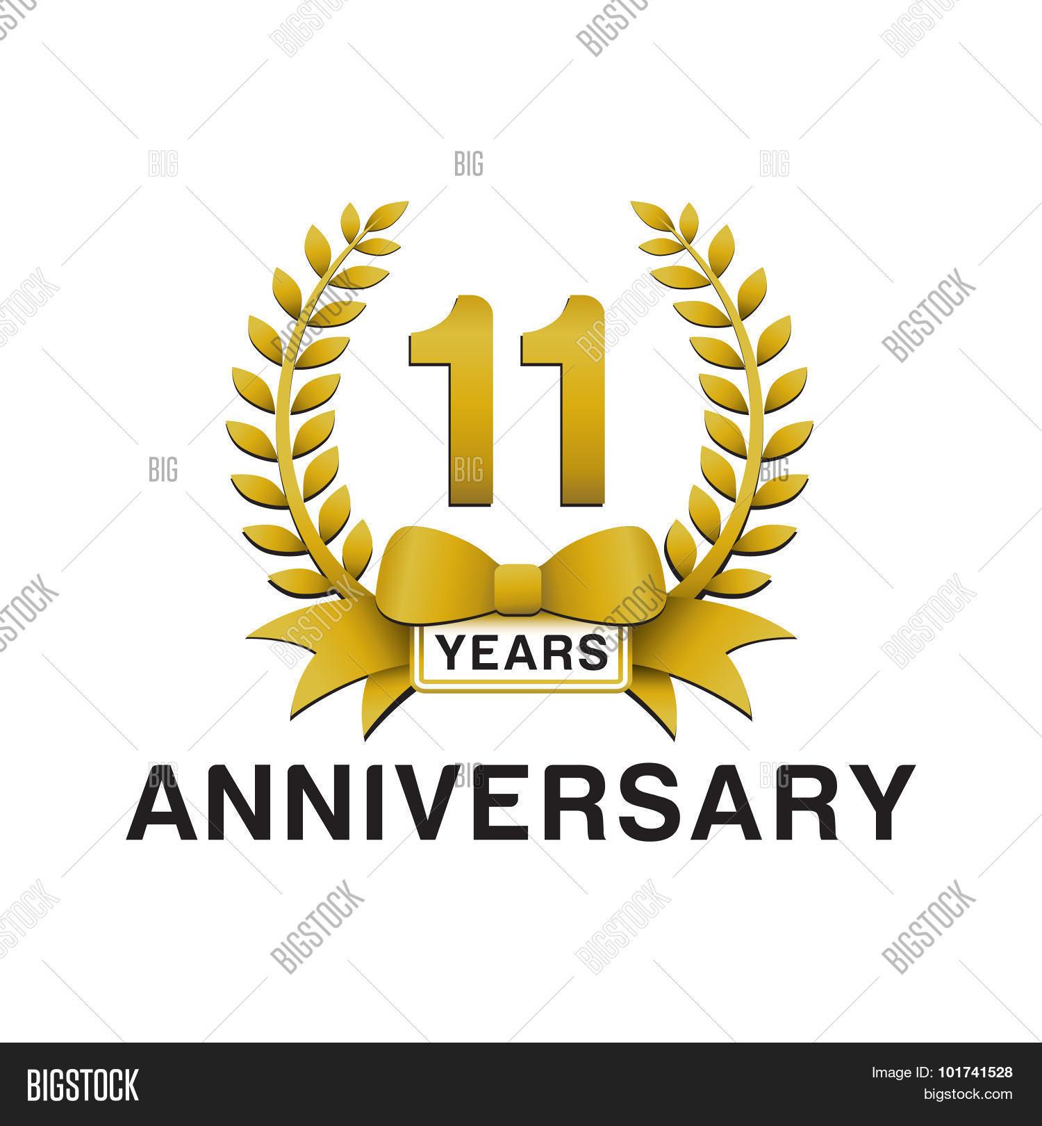 11th anniversary vector photo free trial bigstock
