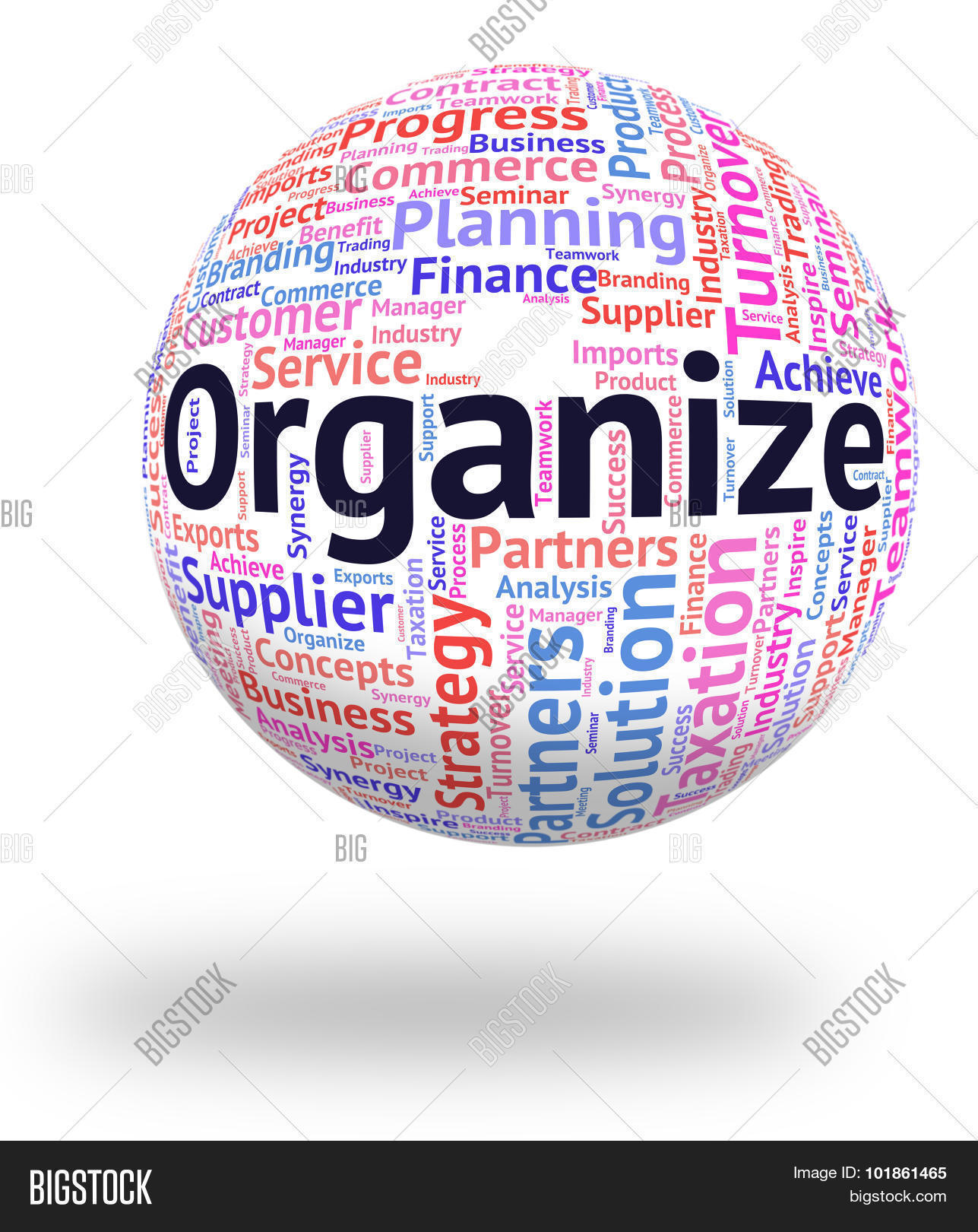 Organize Word Represents Wordclouds Image & Photo | Bigstock