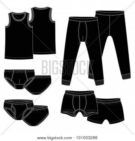 Pants, briefs, shirt
