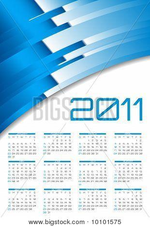 Vector abstract calendar