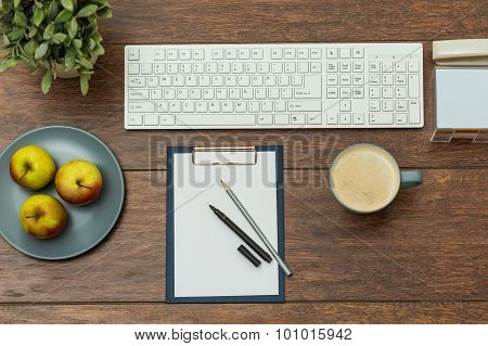 Office Desk With Keyboard