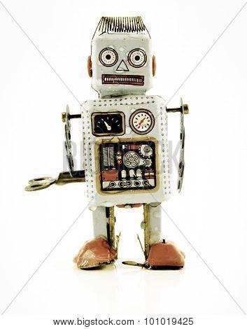 wet dejected robot toy