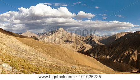 Canyon Of Zanskar River. View From Zanskar Valley