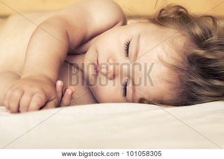 Sleeping Baby In Bed