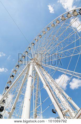 Ferris Wheel On Sunny Day
