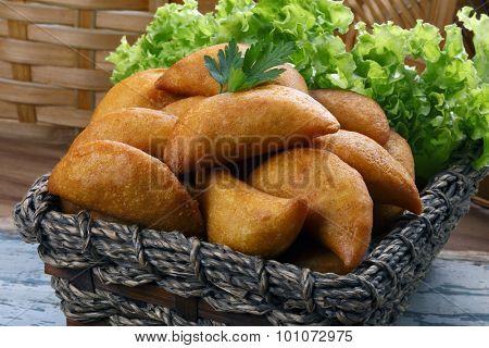 Pastel fried polenta