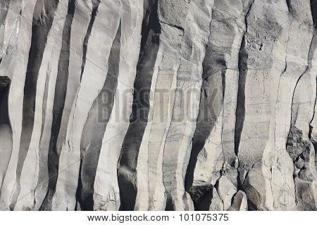 Azores Basalt Wall In Sao Jorge. Faja Do Ouvidor. Portugal