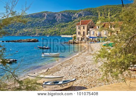 Paradise Beach In Komiza Adriatic Village