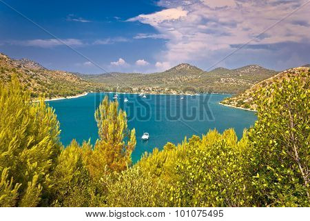 Telascica bay yachting and sailing destination on Dugi otok island in Dalmatia Croatia poster