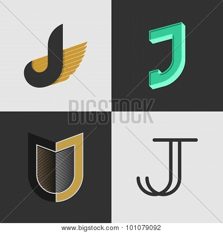 The set of letters J signs