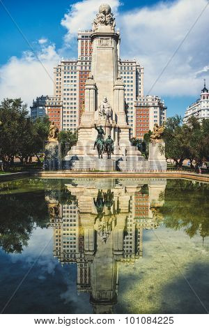Spanish square in Madrid, Spain