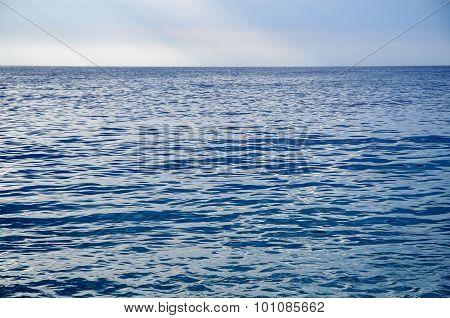 Blue smooth sea