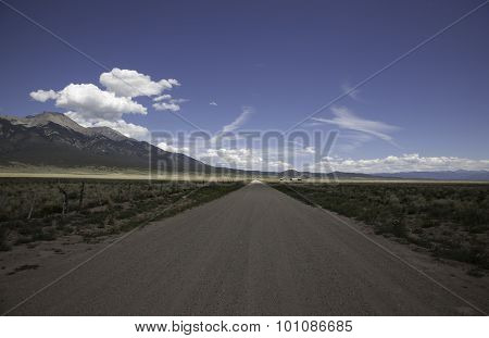 A dirt road in the Sangre De Cristo Mountains. poster